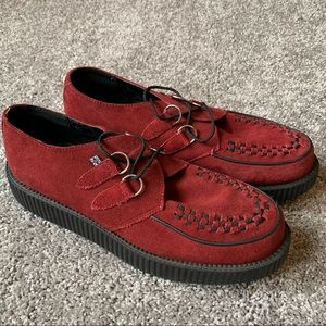 TUK suede creepers red shoes size 13